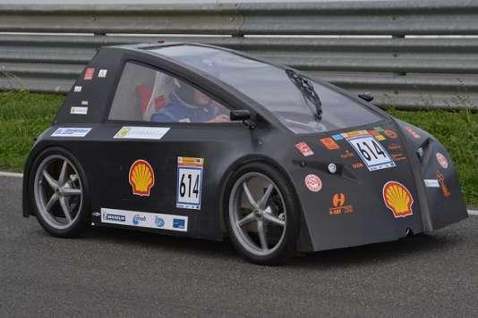 L'«Eucl'hyd II», une voiture basse-consommation qui fonctionne à l'électricité.