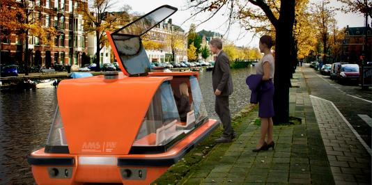 Le premier« roboat» sera testé à la fin de2017 à Amsterdam.