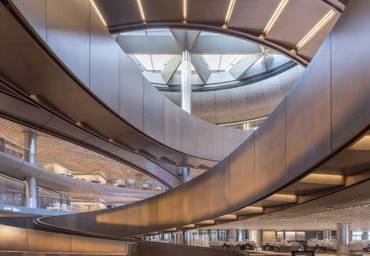 Le nouveau siège européen de Bloomberg, Queen Victoria Street, à Londres, situé entre la Bank of England et la cathédrale Saint-Paul.