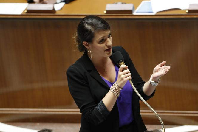 MarlèneSchiappa,la secrétaire d'Etat à l'égalité entre les femmes et les hommes, à l'Assembléenationale le 7 novembre.