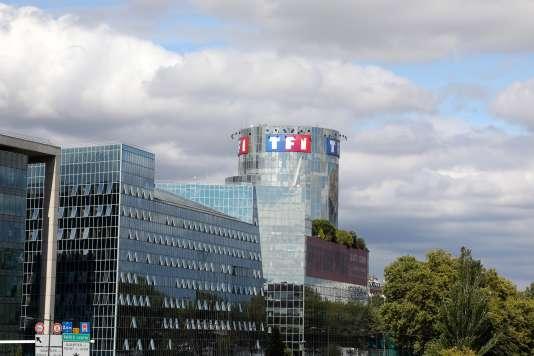 La tour de TF1, à Boulogne-Billancourt, le 4 septembre 2017.