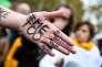Rassemblement contre le harcèlement et les violences sexuelles, à Paris le 29 octobre.