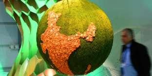 Maquette représentant le réchauffement climatique à la conférence climat (COP) de Bonn (Allemagne), le 6 novembre.