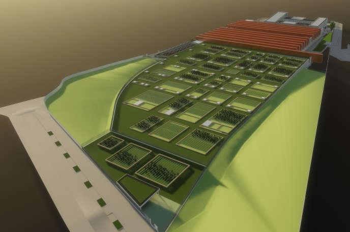 Modélisation en 3D du site de maintenance et de remisage des trains de Champigny pour le projet du Grand Paris.