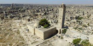 Alep, vue aérienne par drone, dans le cadre des prises de vues de la société Iconem, pour la reconstruction des monuments détruits.