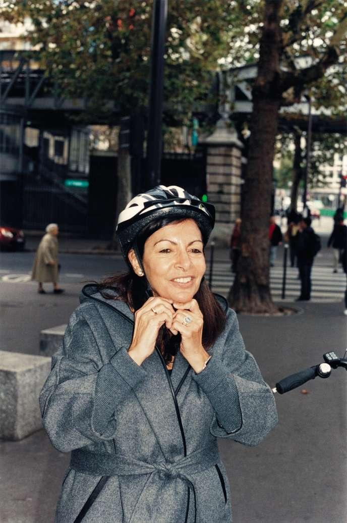 Anne Hidalgo, le 10octobre, dans le 13earrondissement de Paris.