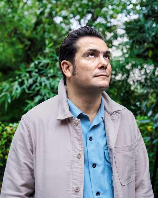 Le fondateur du label Born Bad Records, Jean-Baptiste Guillot, le 26octobre 2017, chez lui à Romainville.