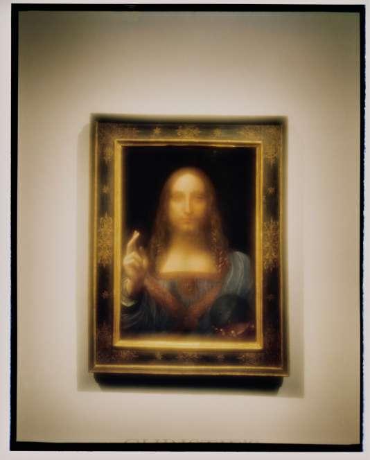 Le « Salvator Mundi » de Léonard de Vinci, exposé chez Christie's, le 25 octobre.