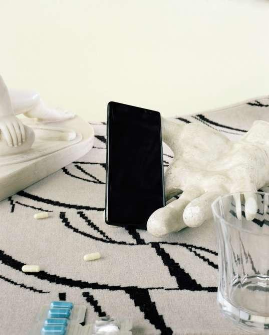 Téléphone Galaxy Note8, Samsung. Moquette sur mesure, Codimat.