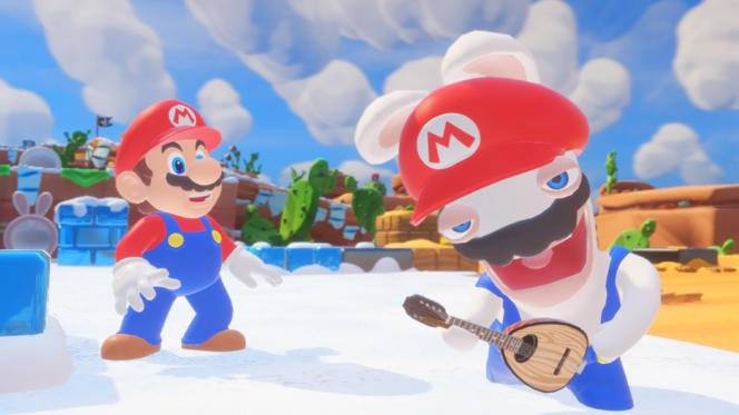 « Mario + Lapins crétins», en collaboration avec Nintendo, a porté les ventes d'Ubisoft ce trimestre.