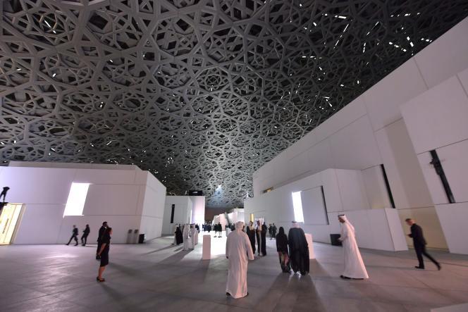 Le Louvre Abu Dhabi, mercredi 8 novembre, le jour de son inauguration.
