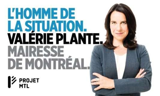 Le slogan de campagne de Valérie Plante, qui a été élue mairesse, a fait mouche à Montréal.