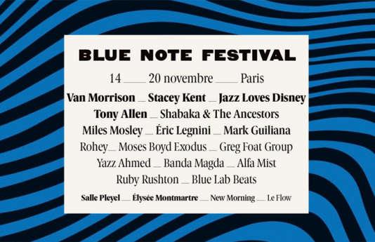 Affiche du Blue Note Festival, à Paris.