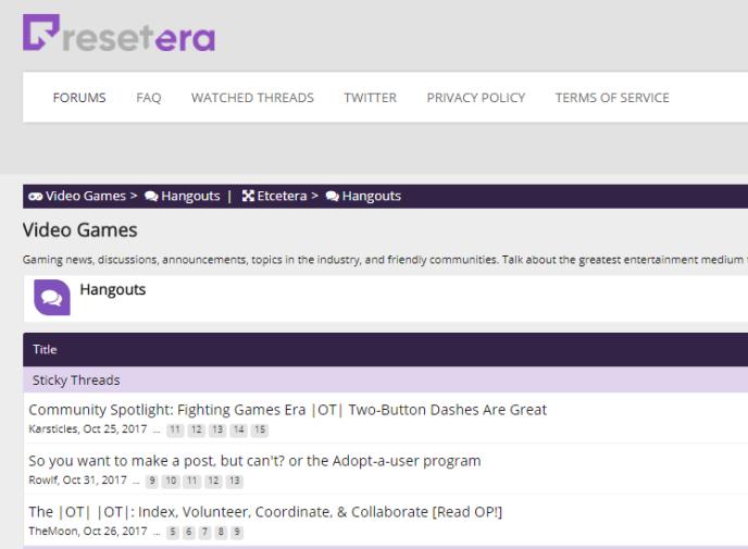 Le forum ResetEra.