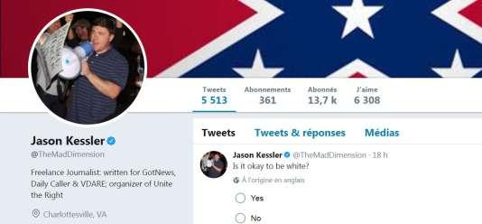 Jason Kessler est l'un des organisateurs du rassemblement suprémaciste blanc de Charlottesville.