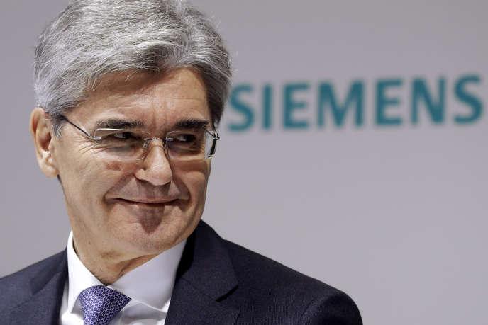 Joe Kaeser, le PDG du conglomérat allemand Siemens, à Munich (Allemagne), le 9 novembre.