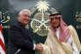 Le secrétaire d'Etat américain Rex Tillerson et le ministre des affaires étrangères saoudien Adel Ahmed Al-Jubeir, à Riyad, le 22 octobre.