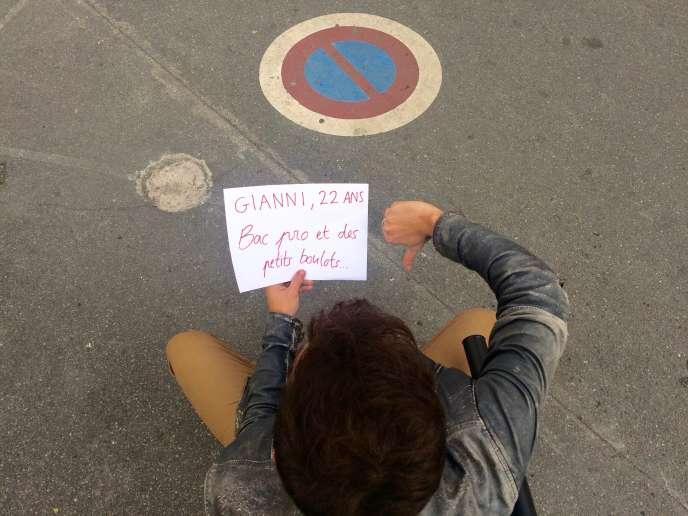 Gianni, 22 ans, en service civique à Perpignan.