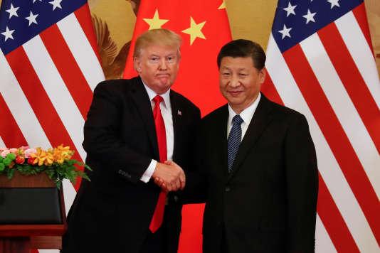 Donald Trump et Xi Jinping à Pékin le 9 novembre.