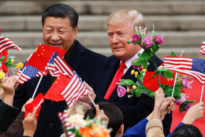 Donald Trump et Xi Jinping, à Pékin, le 9 novembre 2017.