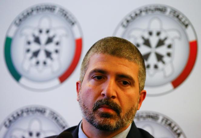 Simone Di Stefano, vice-président deCasaPound, à Rome, le 9 novembre 2017.