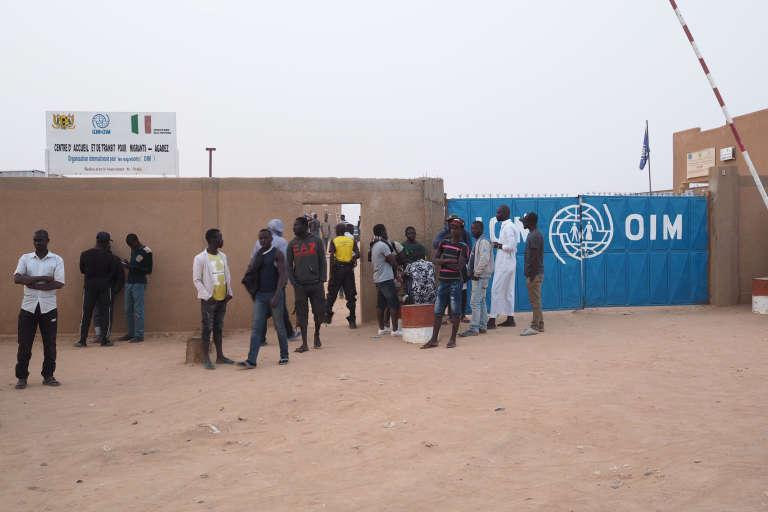 Le centre d'accueil et de transit de l'Organisation internationale pour les migrations, à Agadez, dans le nord du Niger, le 4novembre 2017.