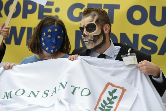 Manifestation contre le glyphosate et Monsanto à Bruxelles, le 25octobre.