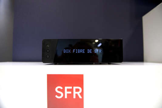 La box de SFR Zive, en 2015, à Paris.