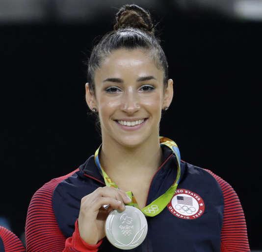La championne de gymnastique Aly Raisman, médaillée d'or aux JO de Rio.