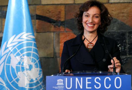 L'ancienne ministre française Audrey Azoulay, nouvelle directrice de l'Unesco, le 10 novembre 2017 à Paris.