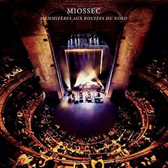 Pochette de l'album «Mammifères aux Bouffes du Nord», de Miossec.
