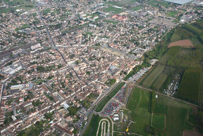 Vue aérienne de Marmande.