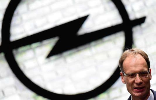 Michael Lohscheller, PDG d'Opel, le 14 septembre au Salon de Francfort.