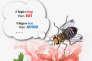 Vue d'artiste montrant la mouche drosophile mettant en œuvre un algorithme de recherche de similarités fondé sur l'odorat.