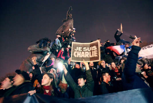 La«Marche républicaine» du 11 janvier 2015, place de la Nation à Paris.