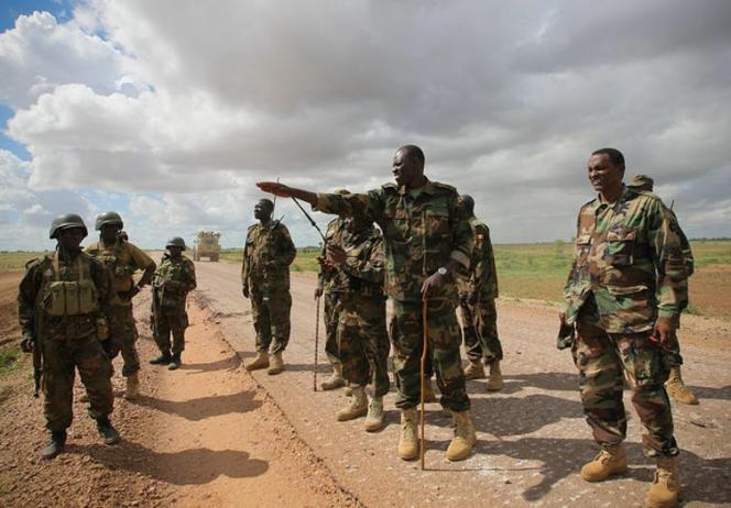Soldats ougandais de la force africaine déployée en Somalie (Amisom), en 2012.