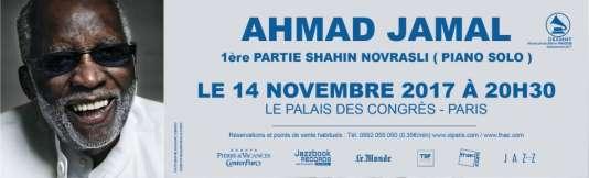 Le pianiste Ahmad Jamal, au Palais des congrès de Paris.