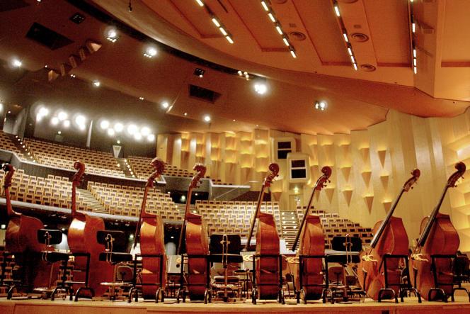 Roch-Olivier Maistre propose la création de ce nouvel opérateur public au service de toute la musique, de l'opéra au rap, dès 2019 (en photo : les instruments de l'Orchestre national de Lyon avant un concert).