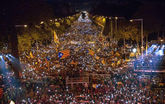 Manifestation du samedi 11 novembre à Barcelone.