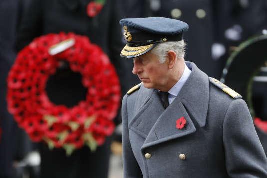 Le prince Charles a déposé une gerbe en hommage aux morts des deux guerres mondiales à Londres, le 12novembre.