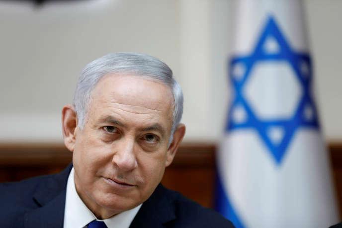 Le premier ministre israélien, BenyaminNétanyahou, à Jérusalem, le 12 novembre.