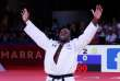 Teddy Riner, champion du monde, après sa victoire contre le judoka belge Toma Nikiforov à Marrakech, le 11novembre.