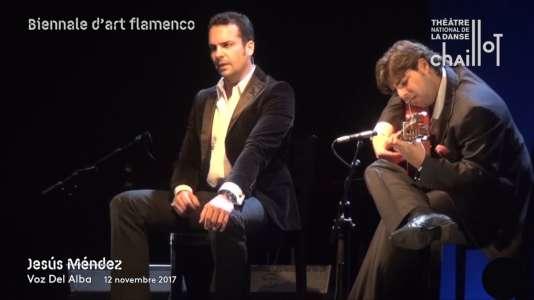 Jesús Mendez en concert dans le cadre de latroisième biennale d'art flamenco à Paris.