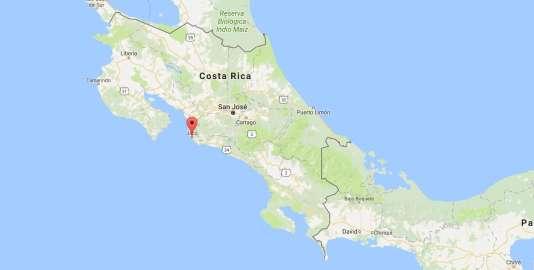 La secousse a été localisée à 16 km au sud-est de la station balnéaire touristique deJaco.