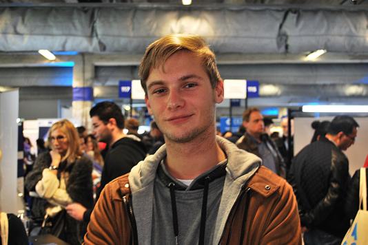 Miguel Baudin, étudiant en management, est venu au salon se renseigner sur les masters.