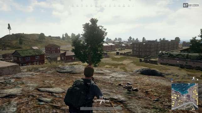 Un joueur isolé durant une partie de« PUBG».