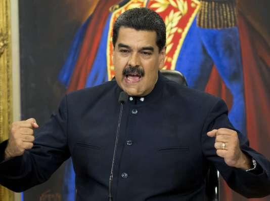 Le président du Venezuela, Nicolas Maduro, le 17 octobre, à Caracas.
