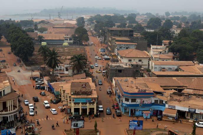 Bangui, la capitale de la République centrafricaine, en février 2016.