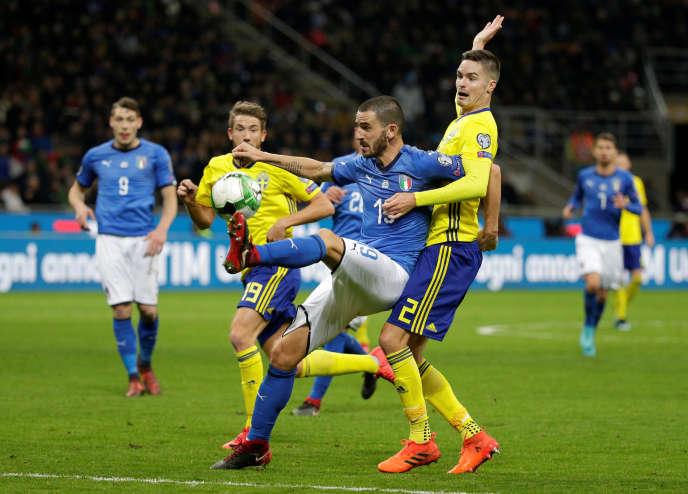 La Suède s'est qualifiée pour le Mondial-2018 en allant faire match nul contre l'Italie (0-0), qui est du même coup éliminée, lundi à Milan en barrages retour, après avoir gagné le match aller 1-0.