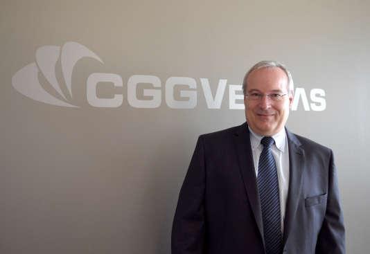 Le directeur général de CGG, Jean-Georges Malcor, à Paris, le 24 septembre 2012.